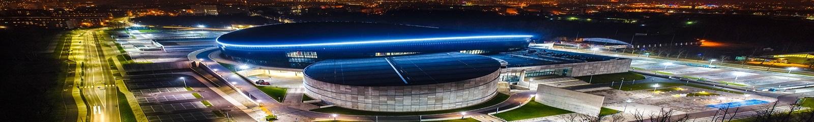 Arena Gliwice w nocy