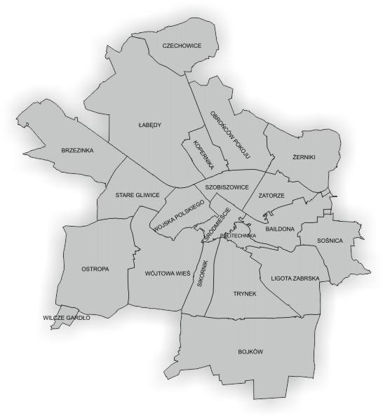 Interaktywna mapa Rad Osiedlowych